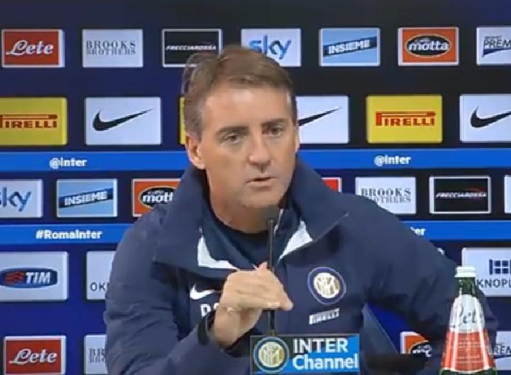 """Verso Roma-Inter, Mancini in conferenza: """"Grande rispetto per i giallorossi. Kovacic a disposizione"""""""