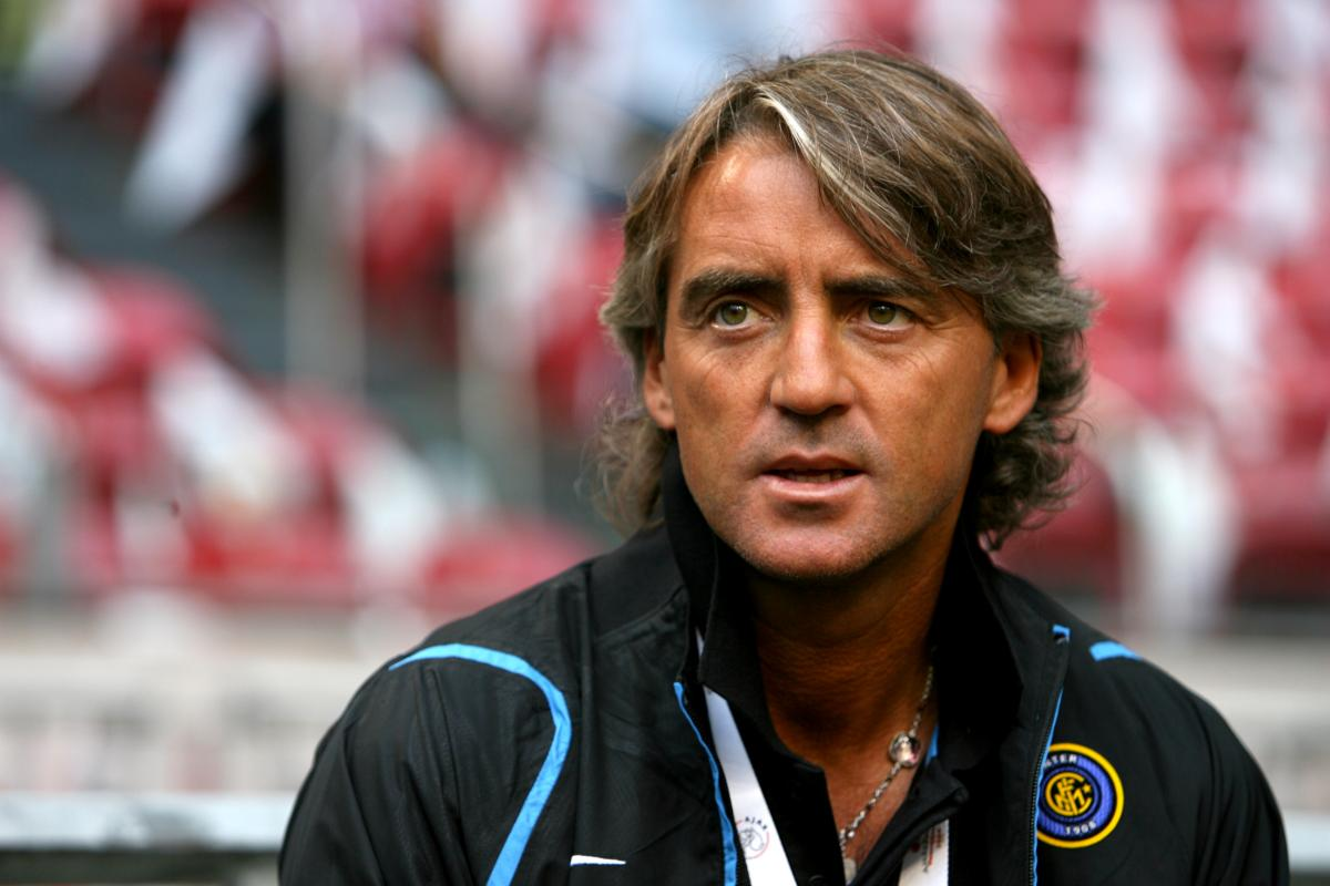 Roberto Mancini ai tempi dell'Inter