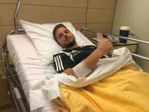 La foto postata da Dries Mertens poche ore dopo il suo incidente di ieri