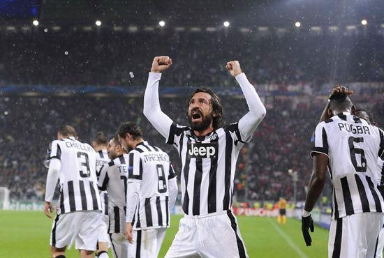 Pirlo incanta la Juventus Champions League