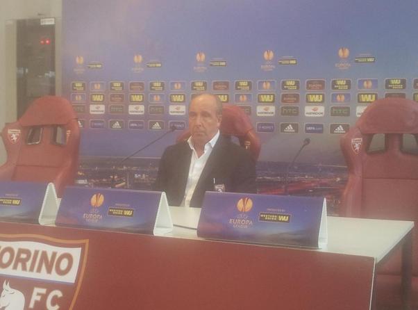 Ventura in conferenza prima della gara con il Brugge