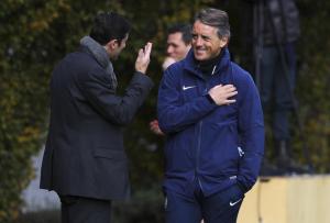 Mancini e Zanetti a colloquio