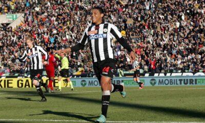 Muriel a segno contro l'Inter al Friuli.
