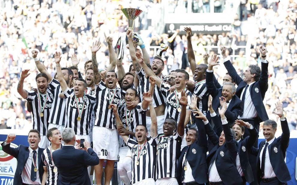 La Juventus campione d'Italia del campionato 2013-2014