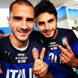 Bonucci e Ranocchia, difensori della Nazionale italiana