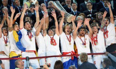 Siviglia vince l'Europa League il 14 maggio 2014 a Torino.