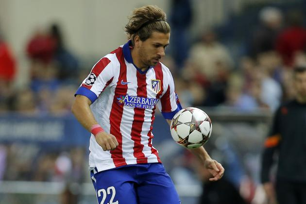 Alessio Cerci durante una delle sue fugaci apparizioni con la maglia dell'Atletico Madrid