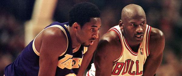 Kobe Bryant e Michael Jordan, eroi della storia Nba.