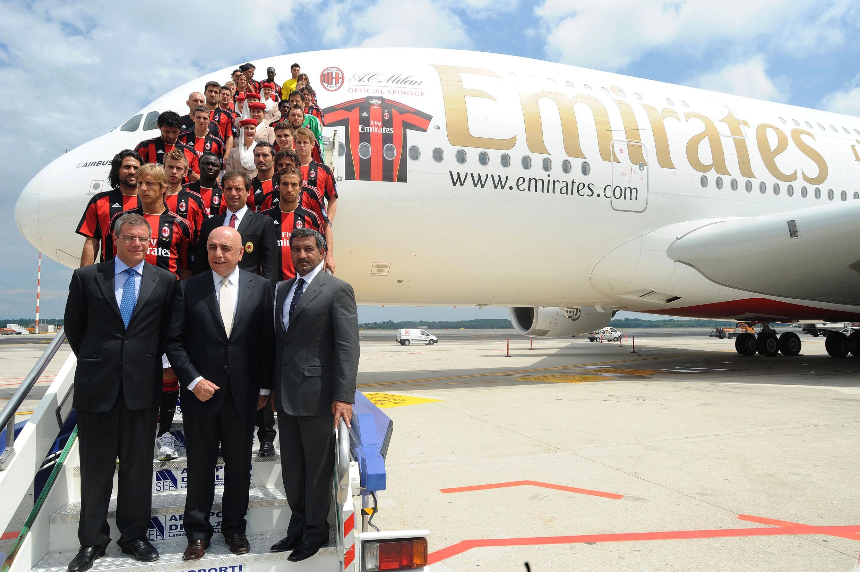 Continua la collaborazione tra il Milan e la compagnia aerea Fly Emirates