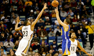 Stephen Curry e Anthony Davis, entrambi in corsa per l'MVP della Regular Season Nba