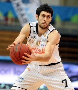 Davide Pascolo, tra i protagonisti dell'11a giornata della Serie A di Basket.