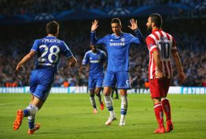 Fernando Torres non esulta dopo il goal all'Atletico Madrid in Champions