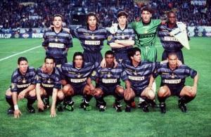 La formazione interista che nel '98 si aggiudicò la Coppa Uefa.