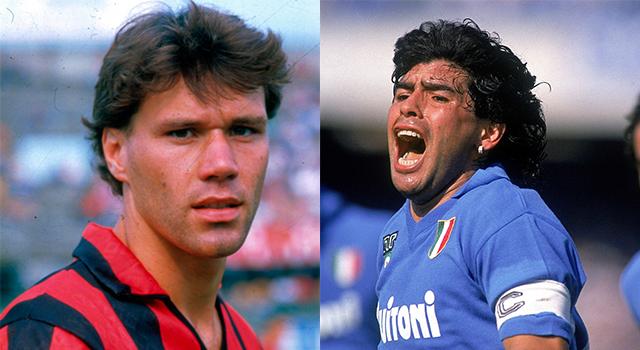 Van Basten e Maradona, Napoli-Milan