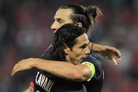 Ibrahimovic e Cavani: i due attaccanti proveranno a portare il PSG alla conquista della Champions.