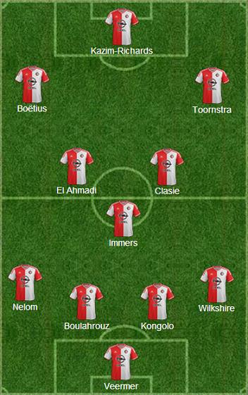 La formazione tipo del Feyenoord di Rutten