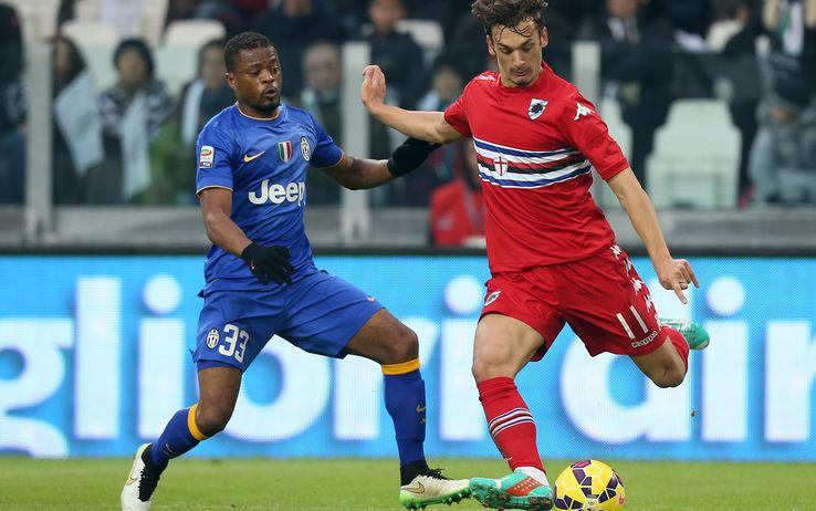 Manolo Gabbiadini e segna il goal del pareggio allo Juventus Stadium