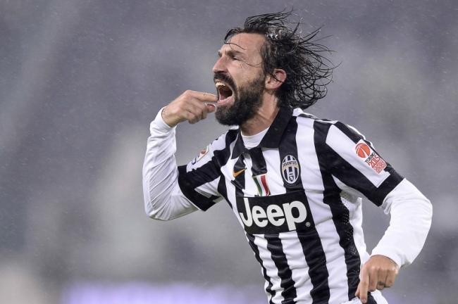 Andrea Pirlo sarà il grande assente di Borussia Dortmund-Juventus.