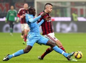 Koulibaly peggiore in campo in Milan-Napoli