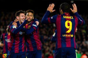 Suarez, Neymar e Messi, protagonisti della serata di Champions League