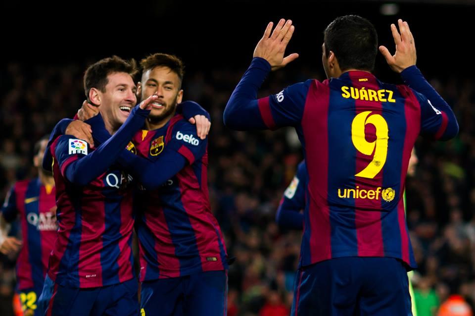 Suarez, Neymar e Messi, protagonisti della serata di Champions League Barcellona