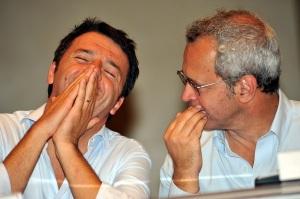 Matteo Renzi ed Enrico Mentana