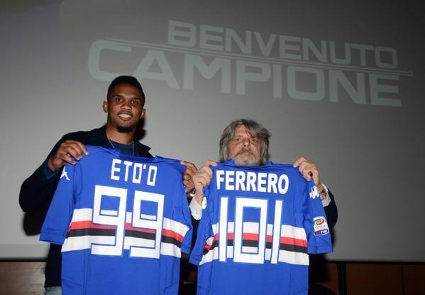 Presentato Samuel Eto'o dalla Sampdoria