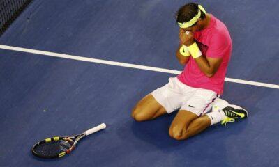 Nadal distrutto dopo la vittoria contro Tim Smyczek agli AustraliaN Open