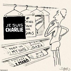 """La vignetta di Spinoza.it sul fenomeno """"Charlie Hebdo"""" e non solo"""