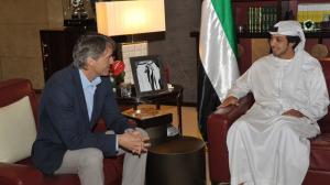 Roberto Mancini impegnato a stringere rapporti internazionali con lo sceicco Mansour