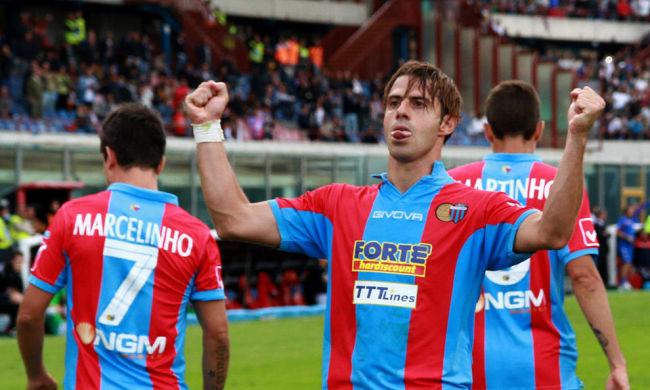 Emanuele Calaiò, attaccante del Catania