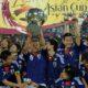 Il Giappone alza la coppa d'Asia 2011 in Qatar.