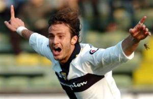 Alberto Gilardino ai tempi del Parma.