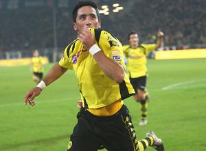 Lucas Barrios, ai tempi del Borussia Dortmund