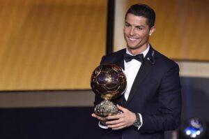 Cristiano Ronaldo durante la premiazione dell Pallone d'oro