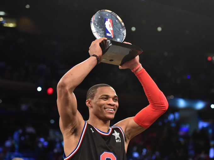 Russell Westbrook, MVP dell'All Star Game di New York