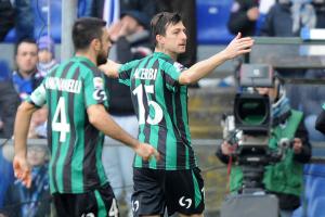 Francesco Acerbi, autore del momentaneo 1-0 per il Sassuolo contro la Sampdoria