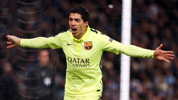 Il Barcellona ipoteca i quarti con un Suarez show: 2-1 al City