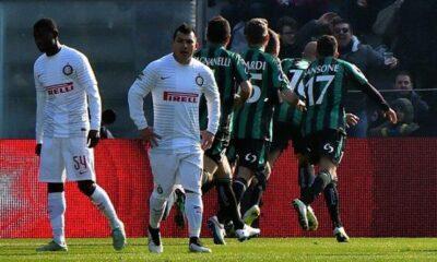 Il Sassuolo batte l'Inter per 3-1.