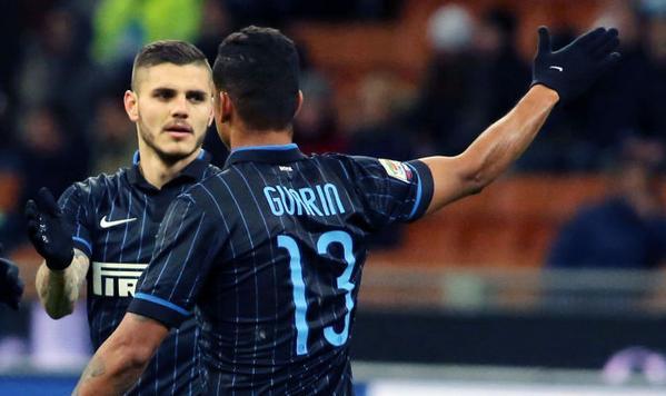 Guarin e Icardi, protagonisti della top 11 della 22esima giornata di Serie A