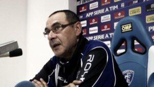 Sarri nella conferenza stampa pre-Milan