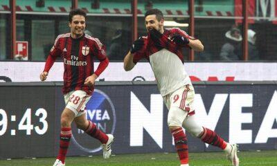Mattia Destro, primo gol con la maglia del Milan