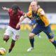 Gervinho contrastato da Halfreddson: l'ivoriano oggi ha disputato una prova non sufficiente