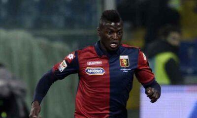 Niang, tra i milgiori in campo nella vittoria del Genoa contro la Lazio