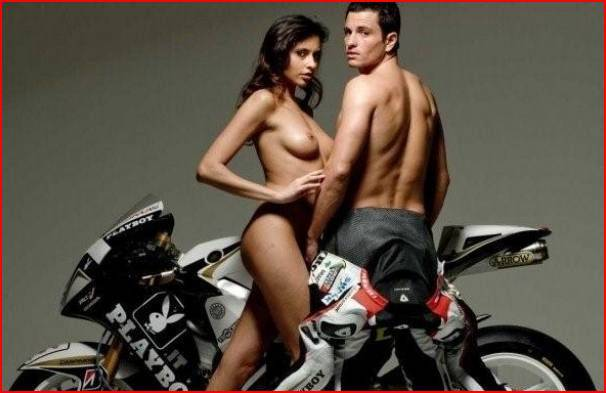 Francesca Lukasik e Randy De Puniet: la bella e il machociclista