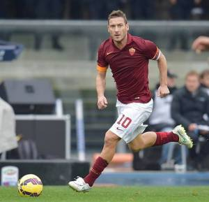 Francesco Totti, il grande assente per la partita di domani
