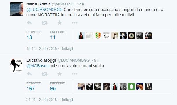 Il tweet di Luciano Moggi