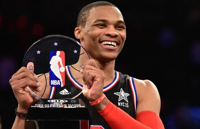 Russel Westbrook, dominatore dell'All Star Game Nba