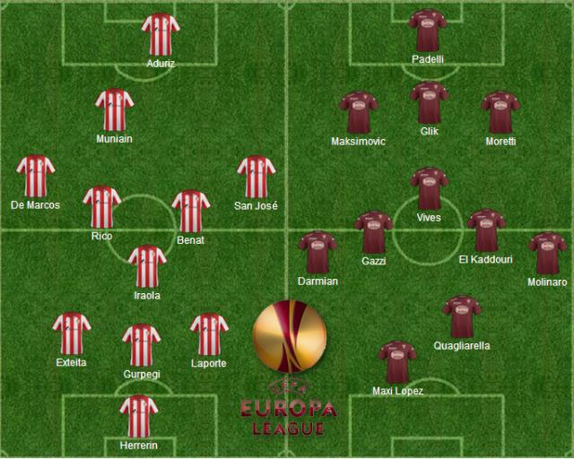 Formazioni ufficiali Bilbao-Torino