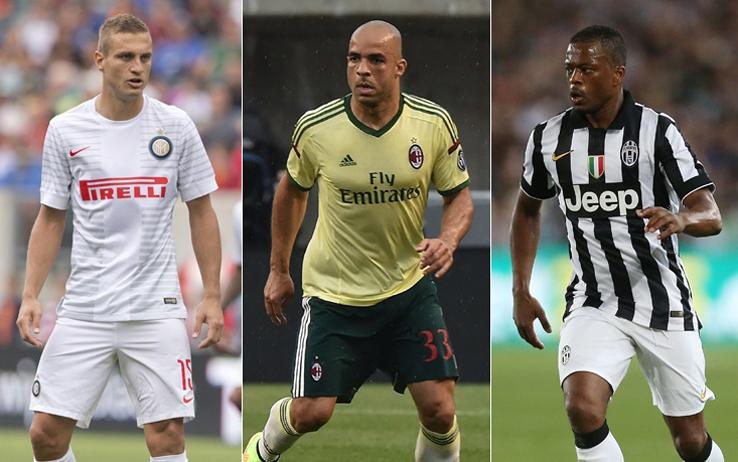 Vidic, Alex, ed Evra: simboli del momento del calcio italiano, che punti su vecchi e su stranieri